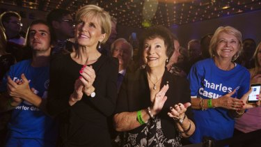 Julie Bishop knows a Baird win is good for Canberra too.