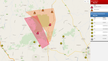 Latest Benloch and Nulla Vale warning update.