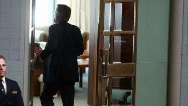 Labor MP Wayne Swan leaves under 94a. Photo: Alex Ellinghausen