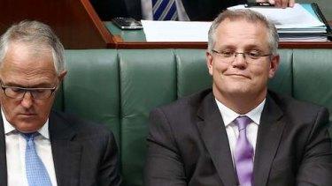 Immigration Minister Scott Morrison during Question Time. Photo: Alex Ellinghausen