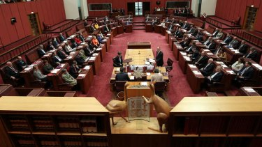 The new Senate. Photo: Alex Ellinghausen