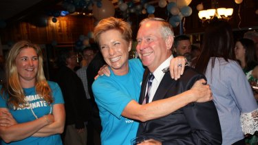 Premier Colin Barnett (with Dixie Marshall) needed a Scotch after the election result.