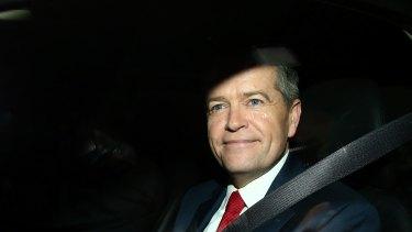 Bill Shorten leaves the Royal Commission into Unions. Photo: Daniel Munoz