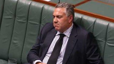 Treasurer Joe Hockey listens to censure motion against the Prime Minister Tony Abbott. Photo: Andrew Meares
