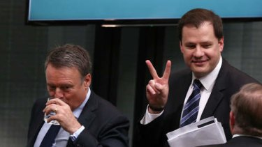 Labor MP Ed Husic is sent out of question time at Parliament House on Wednesday.