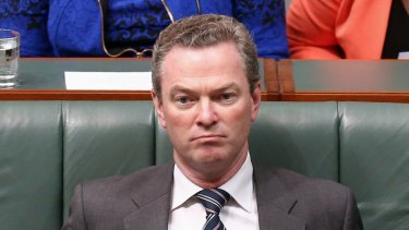 Leader of the House Christopher Pyne arrives for question time on Tuesday.
