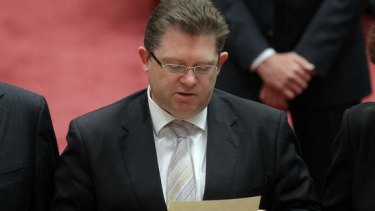 Senator Scott Ryan on Monday. Photo: Alex Ellinghausen