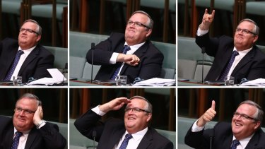 Government whip Ewen Jones in question time on Tuesday.