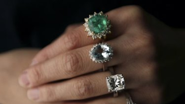 Rings ... worth up to $180,000.