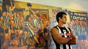 Back to where it began . . . Chris Tarrant rejoined the Magpies after a four-year stint with the Dockers.