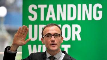 A vote of confidence for the arts: Greens arts spokesman Adam Bandt.