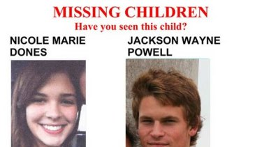 The missing persons flyer put out by the police.