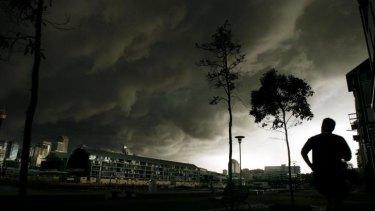 Storm over Sydney's CBD.