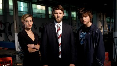 Brooke Satchwell, Joel Edgerton and Khan Chittenden from the TV series <i>Dangerous</i>.