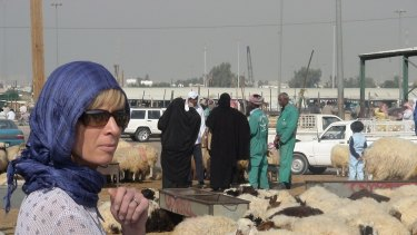 White at a sheep market in Kuwait.