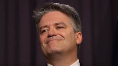 Federal Finance MInister Mathias Cormann.