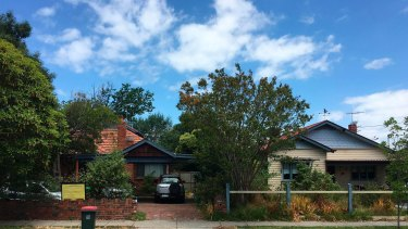 Houses in Bent Street, Bentleigh, that will make way for apartments. Number 29 is on the right.