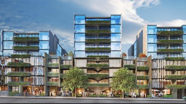 Artist impression of Urban Inc's 233-dwelling apartment project in Collingwood.