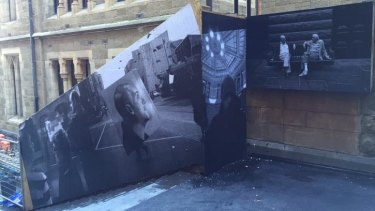 Hoarding by photographer Jesse Marlow for Chapter House Lane.