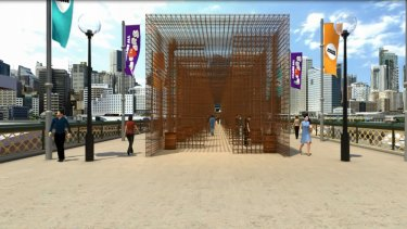 Drawing visitors to Darling Harbour: The proposed temporary fruit and vegetable garden.