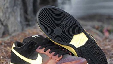 """""""Insensitive"""" ... the Black and Tan sneakers."""