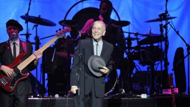 Leonard Cohen in concert at Melbourne's Rod Laver Arena, 2009.