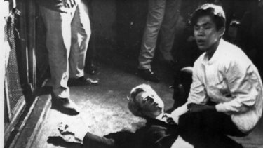Robert Kennedy immediately after the shooting.