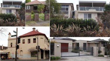 Family ties ... the various properties linked to the Barakats in Sydney.