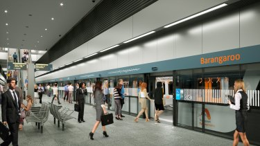 In train: an artist's impression of the railway station to be built at Barangaroo.
