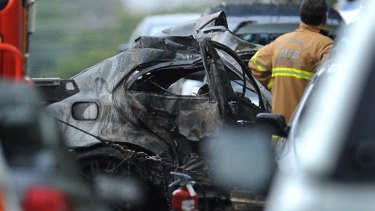 Witnesses said the car's occupants had no hope of escape.