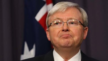 Prime Minister Kevin Rudd: taking on the boats.