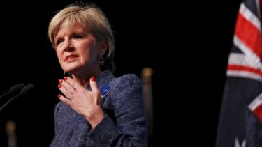 Australia foreign minister Julie Bishop: Beijing now suggests her comments made to Fairfax which drew a sharp rebuke in Chinese media were bogus.