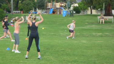 A bootcamp session at Ajax Personal Training.