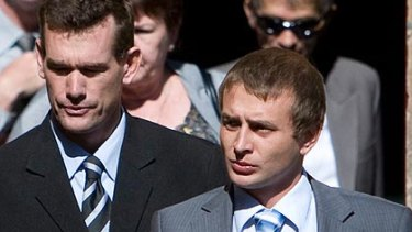 Found guilty ... Matthew Reynolds, left,  and Percy Small.