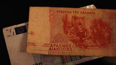 Come back ... the Greek drachma.