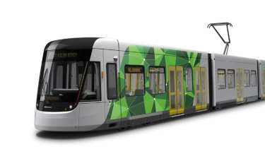 The new E-2-class tram is set to be unveiled.