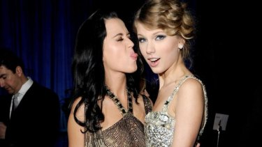 Taylor Swift and Katy Perry in happier days: At the 2010 Grammy awards.