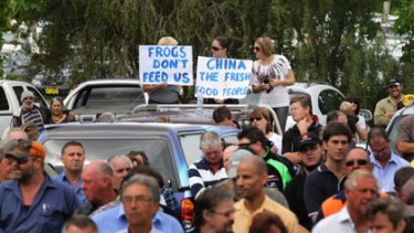 ''As people come out of drought, they have to think, do they have enough money to restart?'' ... some of the protesters who gathered in Griffith at a forum over the water plans.