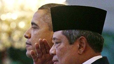 Presidents Obama and Yudhoyono.