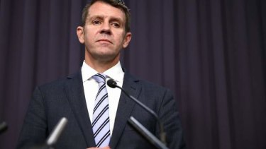''This is a line in the sand'': NSW Premier Mike Baird.