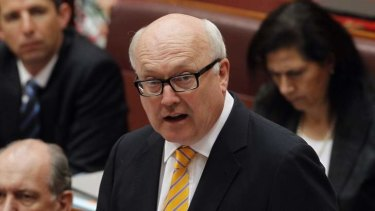 Stumbling block: Attorney-General George Brandis has issued a public interest certificate.