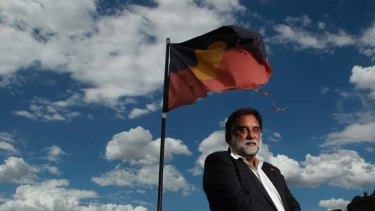 ''Back to street demonstrations'' … Les Malezer, co-chairman of the National Congress of Australia's First Peoples, in Canberra.