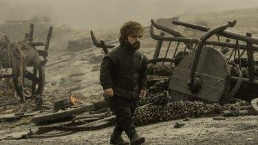Tyrion (Peter Dinklage) surveys the wreckage.