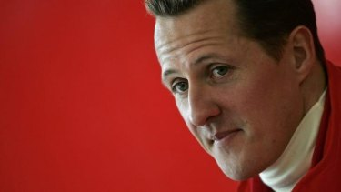 Road to recovery: Michael Schumacher.
