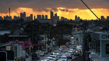 Workers from western Sydney face a long drive home.