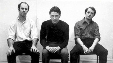 Shocking the art world: from left Ian Burn, Roger Cutforth and Mel Ramsden in New York in 1969. Some reviewers called their conceptual exhibition provocative and ''anti-art''.