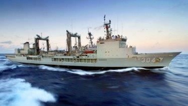 HMAS Success in the Coral Sea off the Australian coast in 2003.