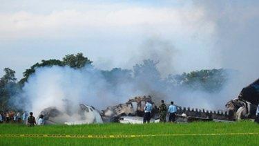 No conviction... the pilot responsible for the Garuda plane crash in 2007 (pictured) had his criminal negligence conviction quashed.