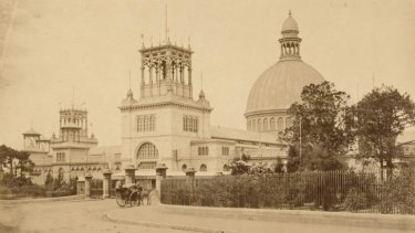 Photograph of the Garden Palace (1879 to 1882), facing Macquarie Street.