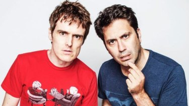 Comedy Festival virgins: Andrew Hansen and Chris Taylor from <i>The Chaser</i>.